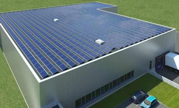 Montážní systém polykrystalických modulů na ploché střechy Schüco MSE 210 Aero