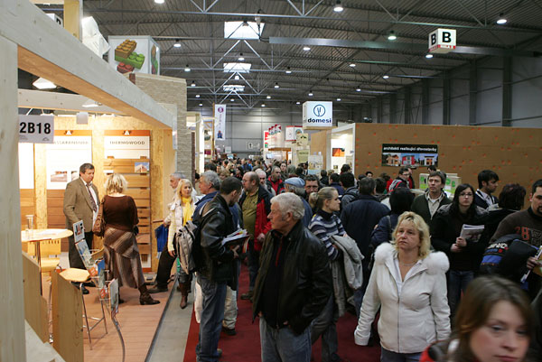 Největší veletrh využití dřeva ve stavebnictví v ČR – DŘEVOSTAVBY 2010