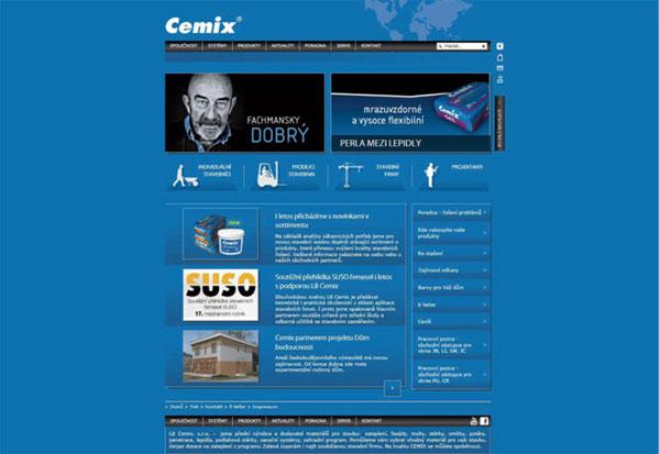 Nové webové stránky společnosti LB Cemix