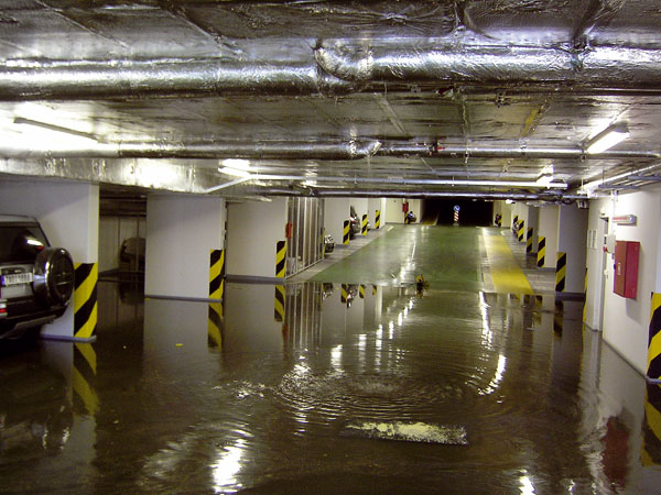 Odvodnění zařizovacích předmětů umístěných pod hladinou vzduté vody