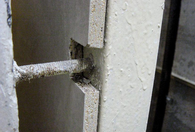 Opláštění výtahové šachty