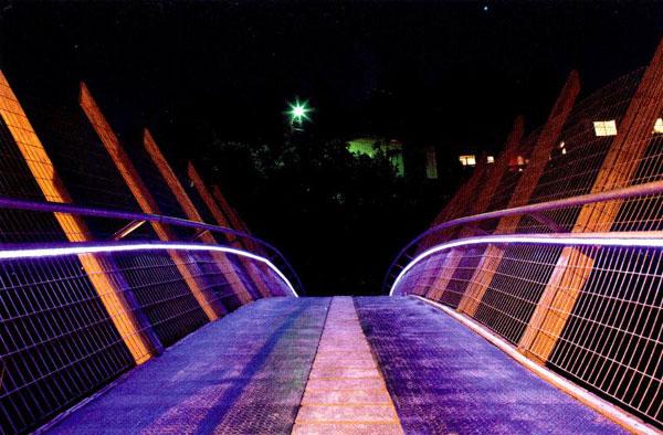 Pěší most v Zapallar, Chile