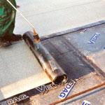Pokládka hydroizolačních asfaltových pásů