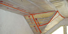 Provádění parozábran v zateplených šikmých střechách