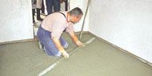 Realizace cementových potěrů