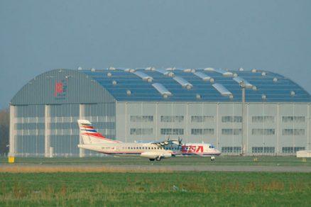 Realizace podlahového vytápění vhale mošnovského letiště