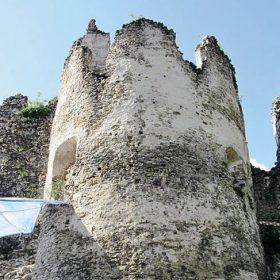 Sanace kamenného zdiva Povážského hradu