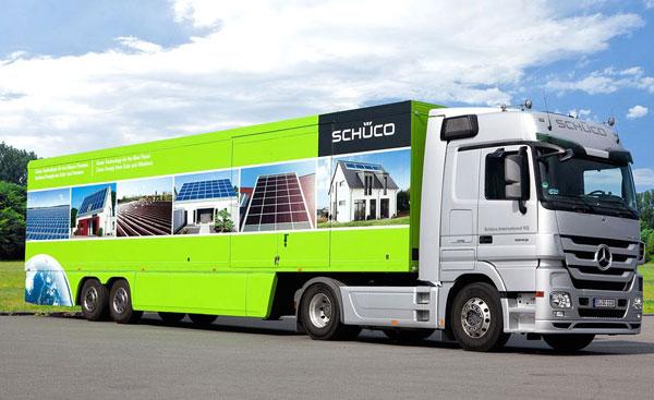 Schüco Demotruck je zpět, tentokrát se zaměřením na solární systémy