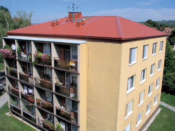 Šikmé střechy pro panelové domy