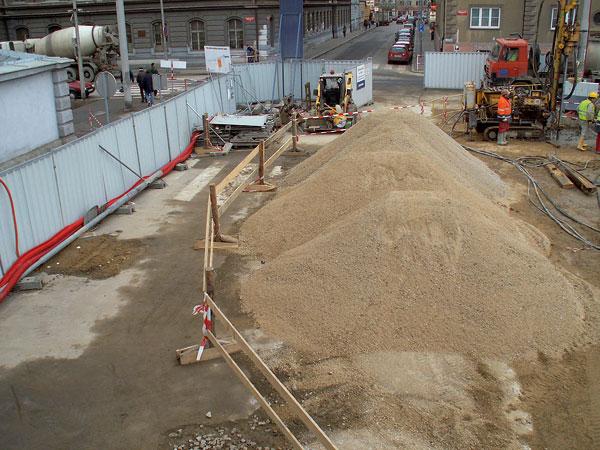 Skladování stavebních materiálů