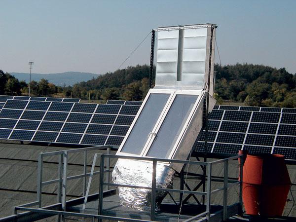 Solární komín v systémech pasivního větrání budov