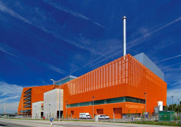 Spalovna odpadu abioplynová stanice ve Vídni