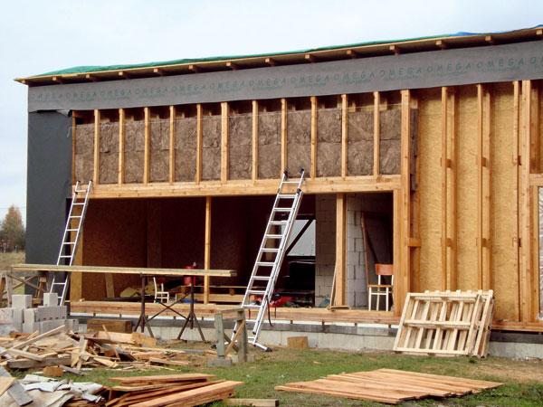Stavba pasivní dřevostavby