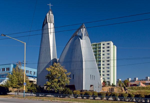 Stříbřitý kostel v Košicích