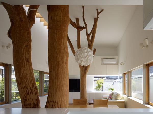 Stromy v japonském domě