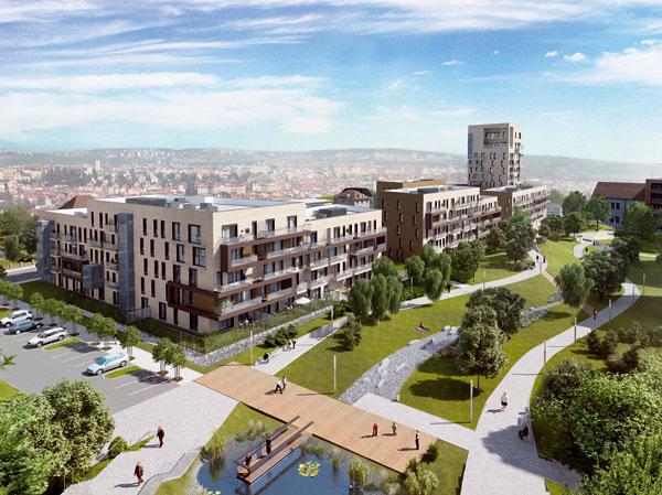 UBB Centra vyroste obytný komplex