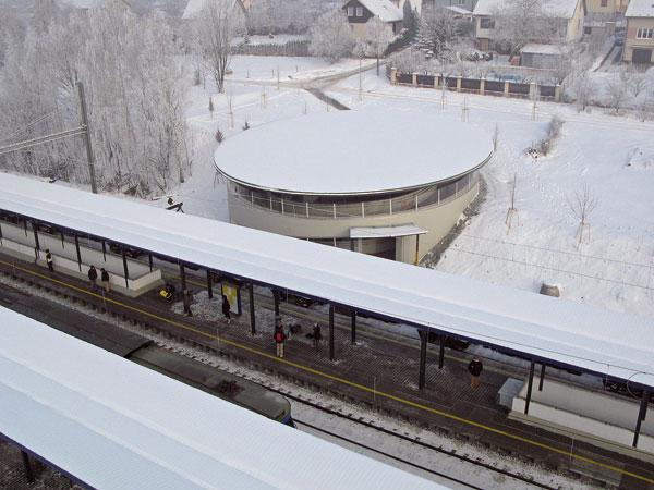 Železniční podchod na trati Benešov uPrahy–Praha hl. nádraží
