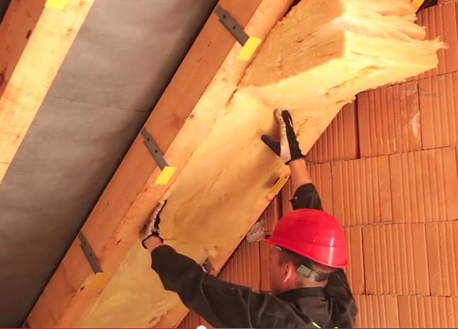 Zateplení šikmé střechy v podkroví