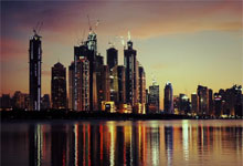 Panaroma města Dubai